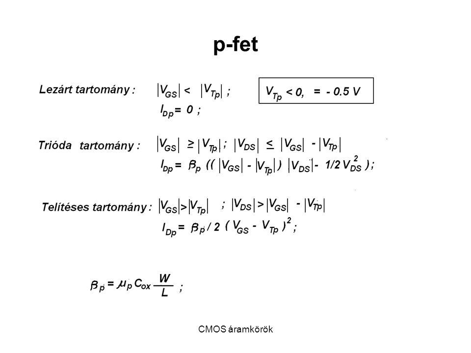 p-fet CMOS áramkörök