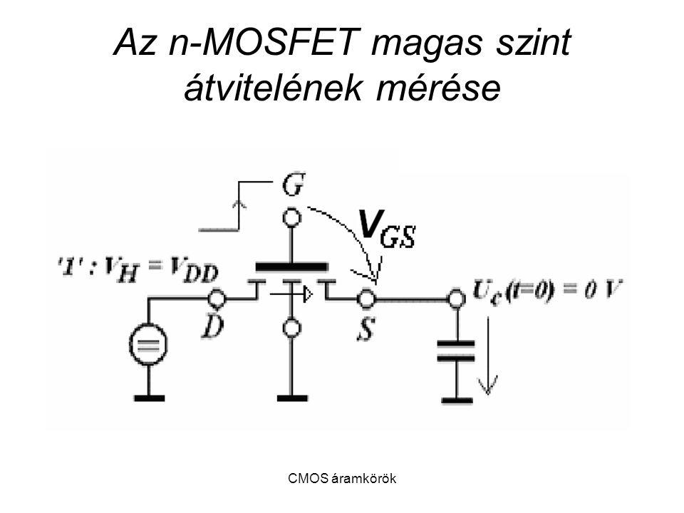 Az n-MOSFET magas szint átvitelének mérése