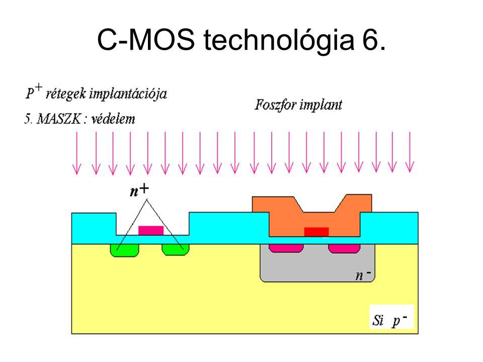 C-MOS technológia 6. CMOS áramkörök