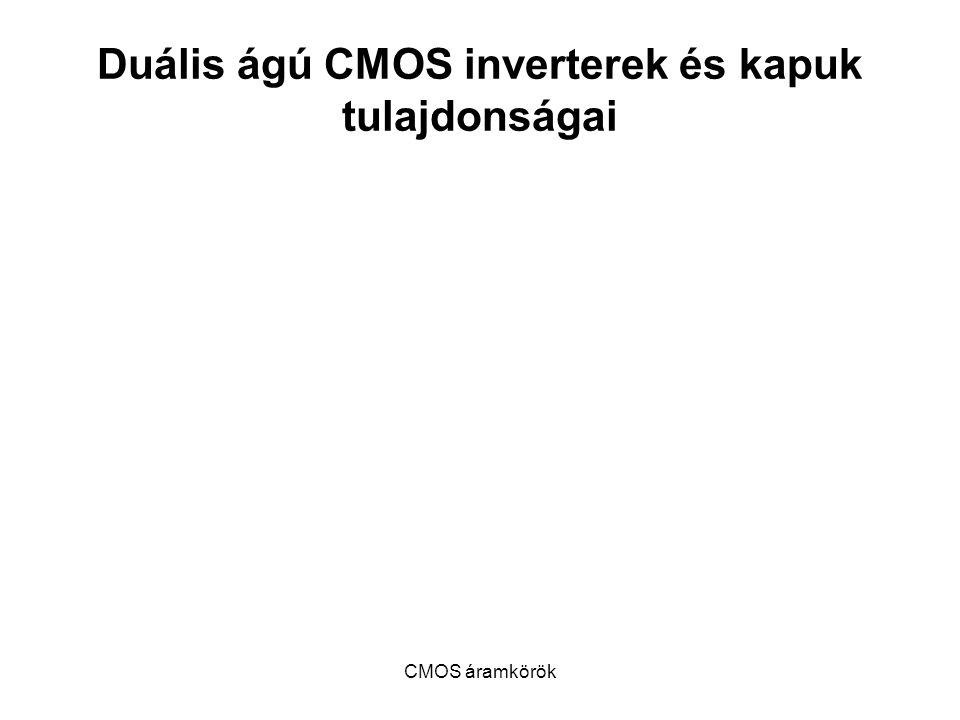 Duális ágú CMOS inverterek és kapuk tulajdonságai