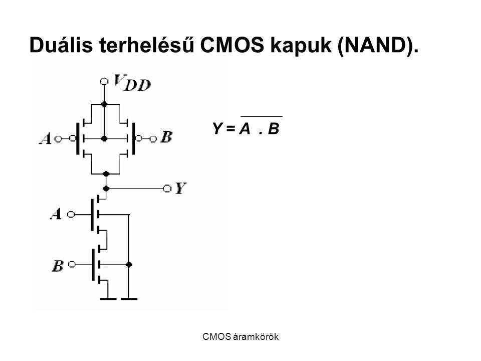 Duális terhelésű CMOS kapuk (NAND).