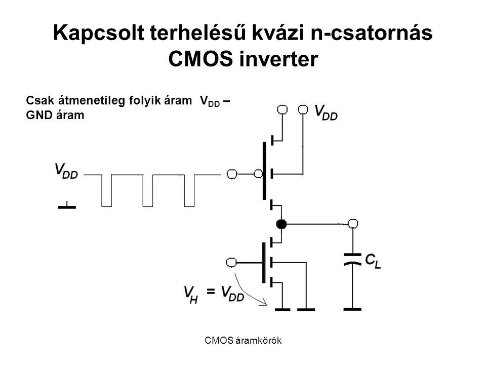 Kapcsolt terhelésű kvázi n-csatornás CMOS inverter