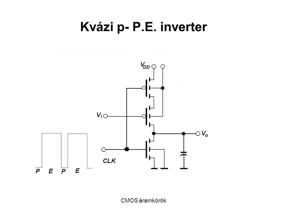 Kvázi p- P.E. inverter CMOS áramkörök