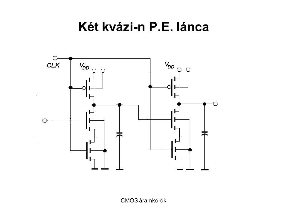 Két kvázi-n P.E. lánca CMOS áramkörök