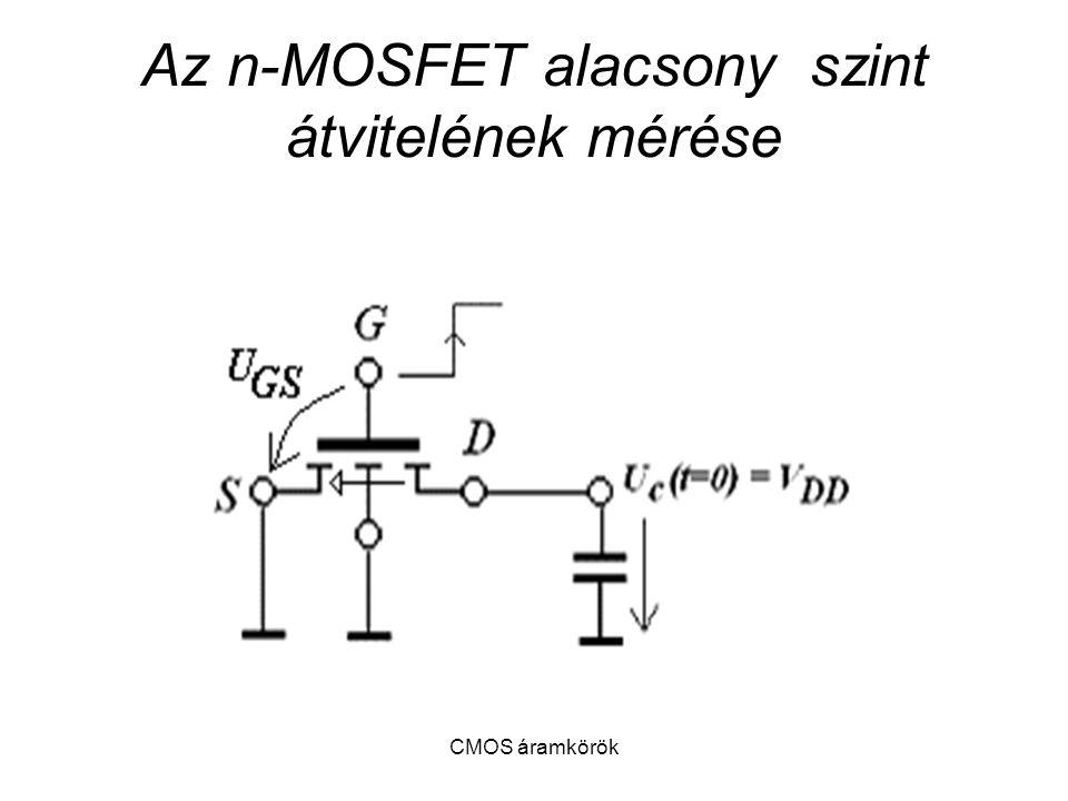 Az n-MOSFET alacsony szint átvitelének mérése