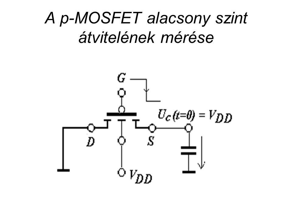 A p-MOSFET alacsony szint átvitelének mérése