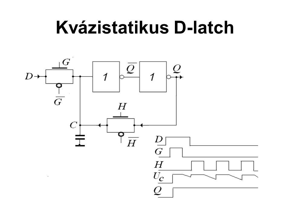 Kvázistatikus D-latch