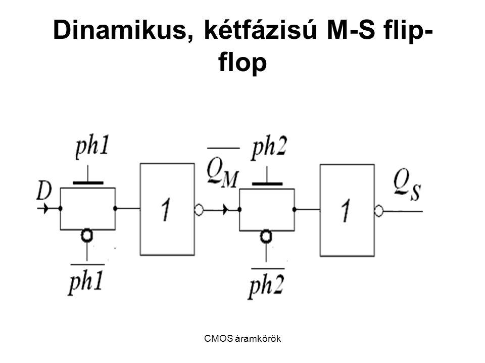 Dinamikus, kétfázisú M-S flip-flop