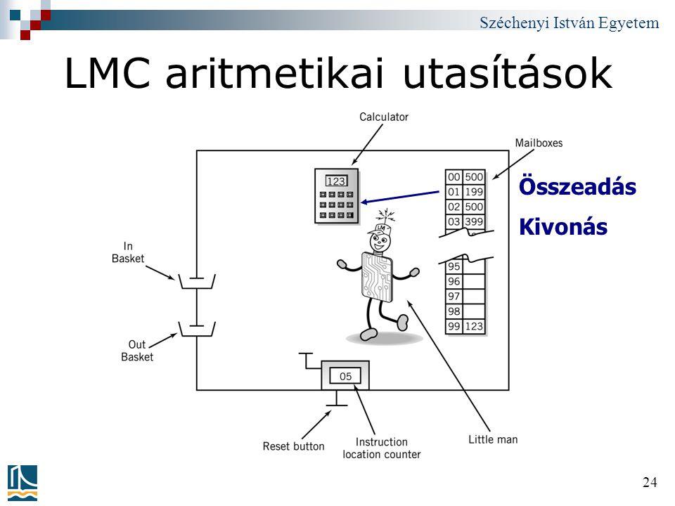 LMC aritmetikai utasítások