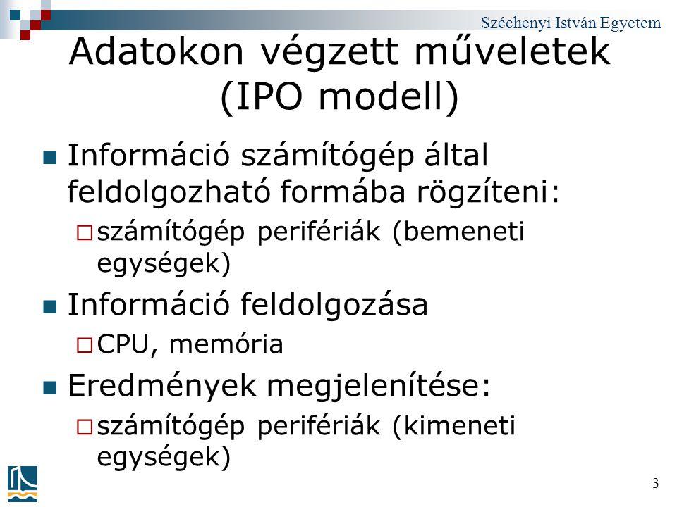Adatokon végzett műveletek (IPO modell)