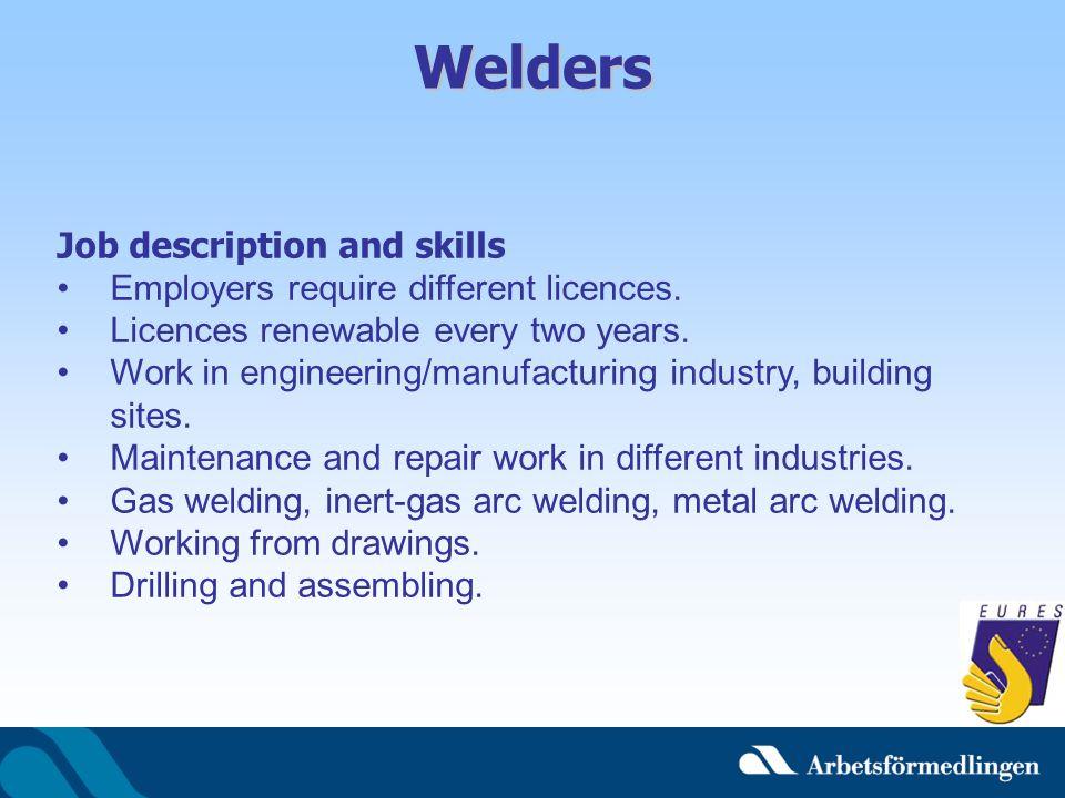 Welders Job description and skills