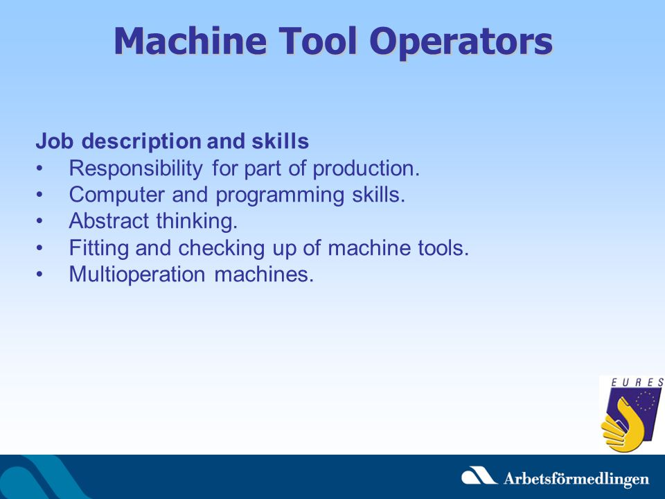Machine Tool Operators