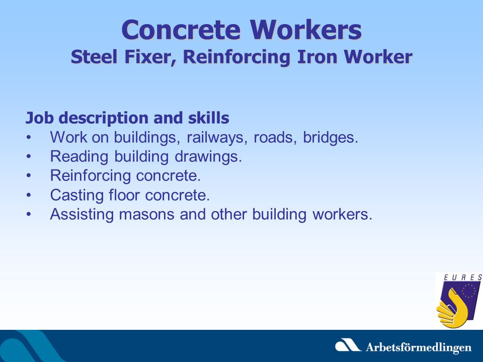 Concrete Workers Steel Fixer, Reinforcing Iron Worker