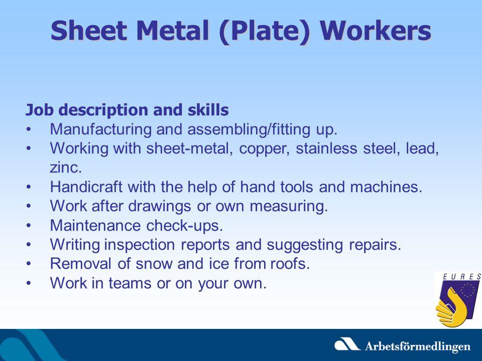 Sheet Metal (Plate) Workers