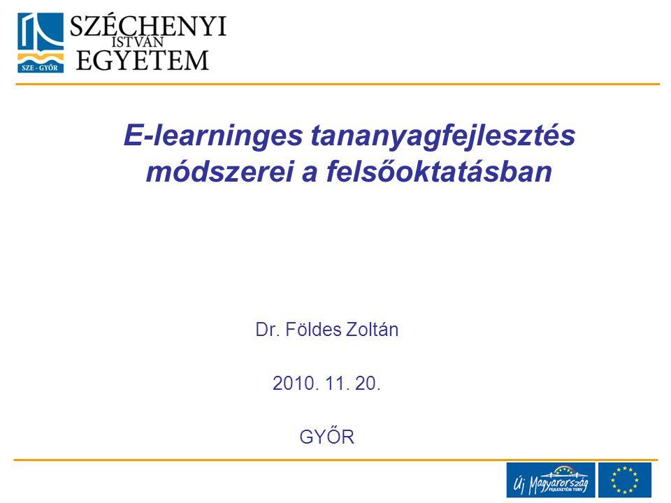 E-learninges tananyagfejlesztés módszerei a felsőoktatásban
