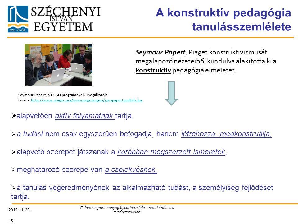 A konstruktív pedagógia tanulásszemlélete
