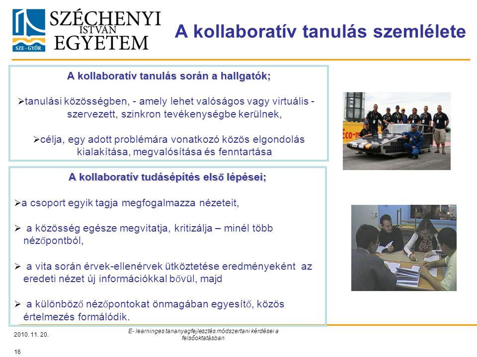 A kollaboratív tanulás szemlélete