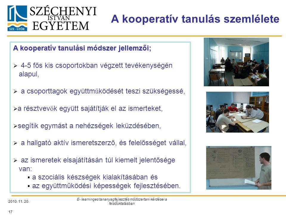 A kooperatív tanulás szemlélete