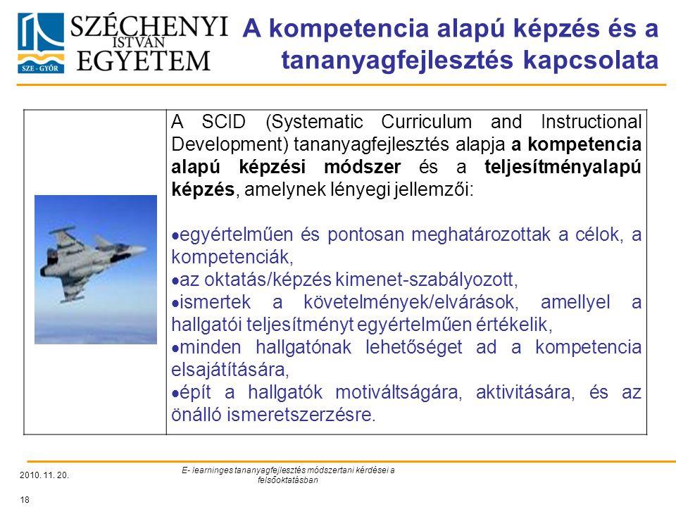 A kompetencia alapú képzés és a tananyagfejlesztés kapcsolata