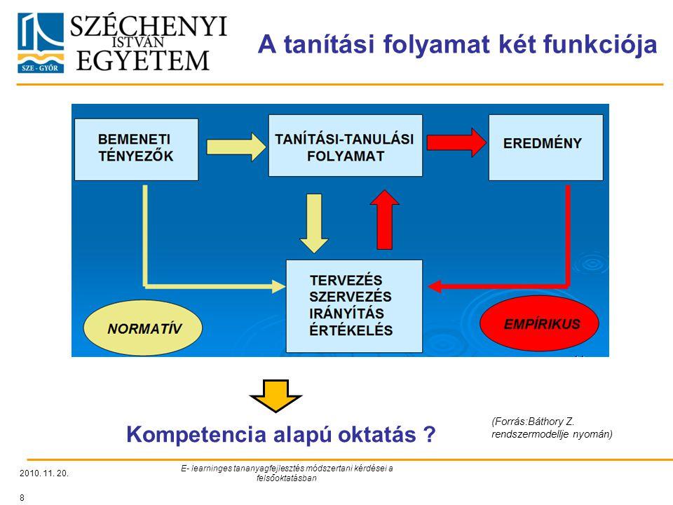 A tanítási folyamat két funkciója