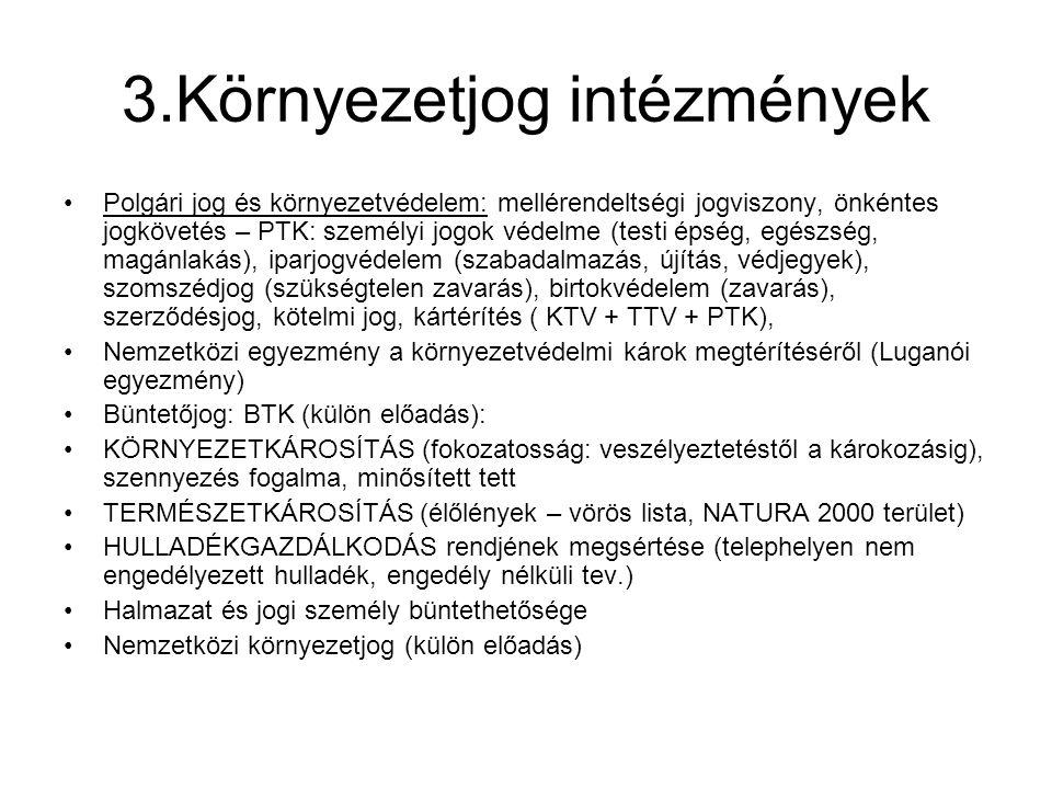 3.Környezetjog intézmények
