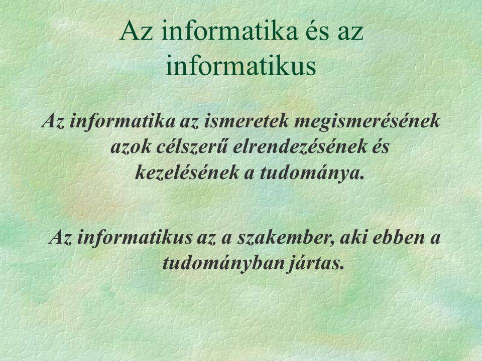 Az informatika és az informatikus