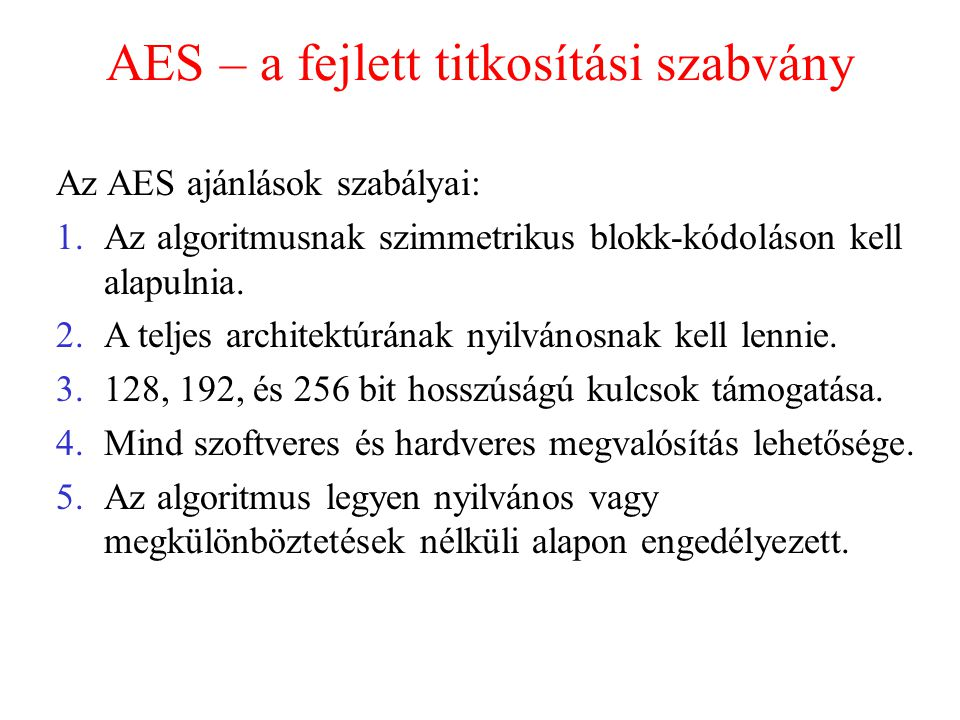 AES – a fejlett titkosítási szabvány
