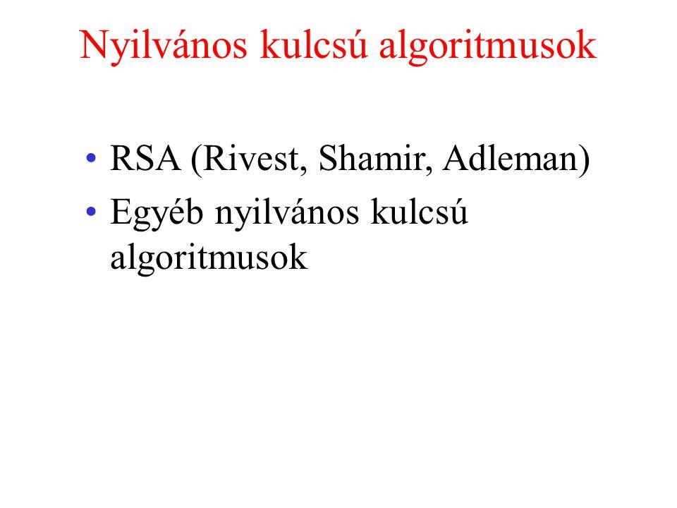 Nyilvános kulcsú algoritmusok