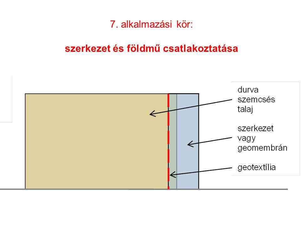 7. alkalmazási kör: szerkezet és földmű csatlakoztatása