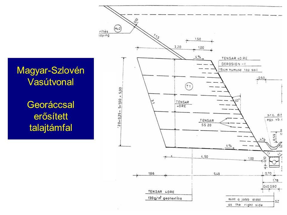 Magyar-Szlovén Vasútvonal Georáccsal erősített talajtámfal