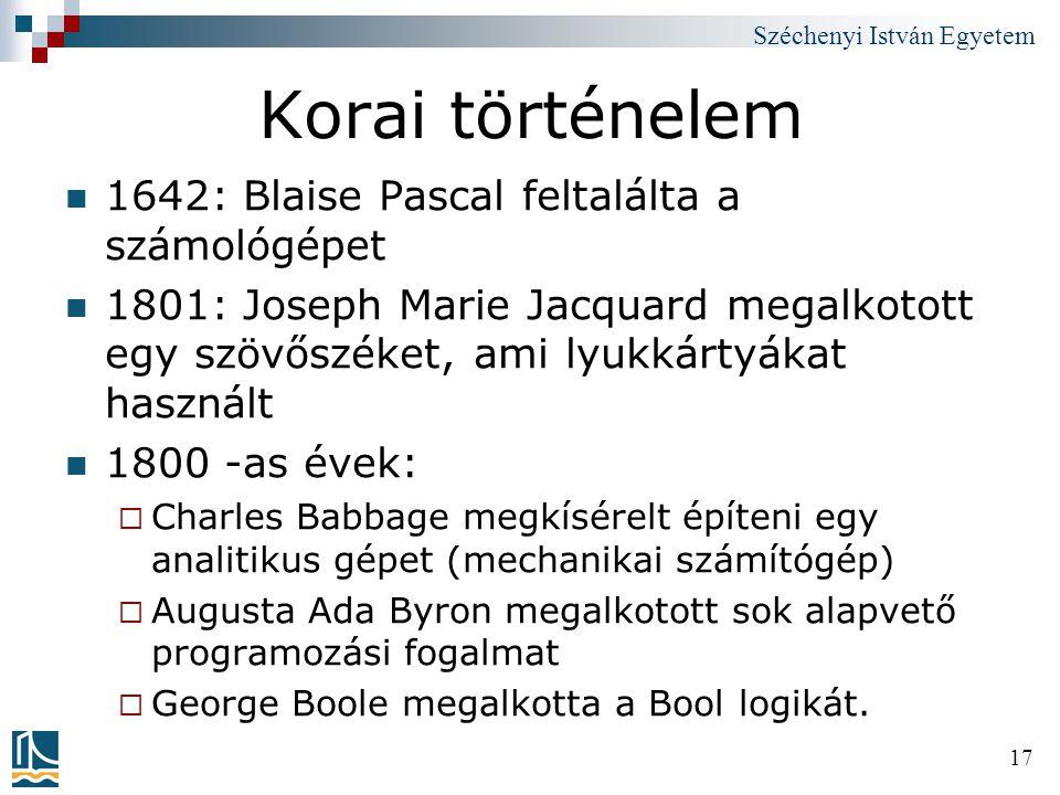 Korai történelem 1642: Blaise Pascal feltalálta a számológépet