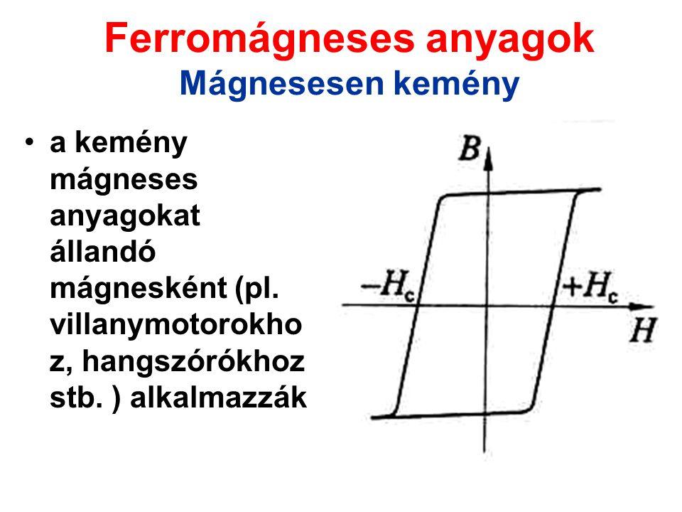 Ferromágneses anyagok Mágnesesen kemény