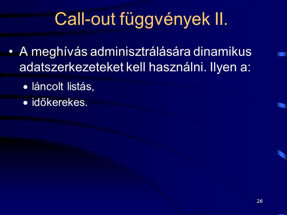 Call-out függvények II.