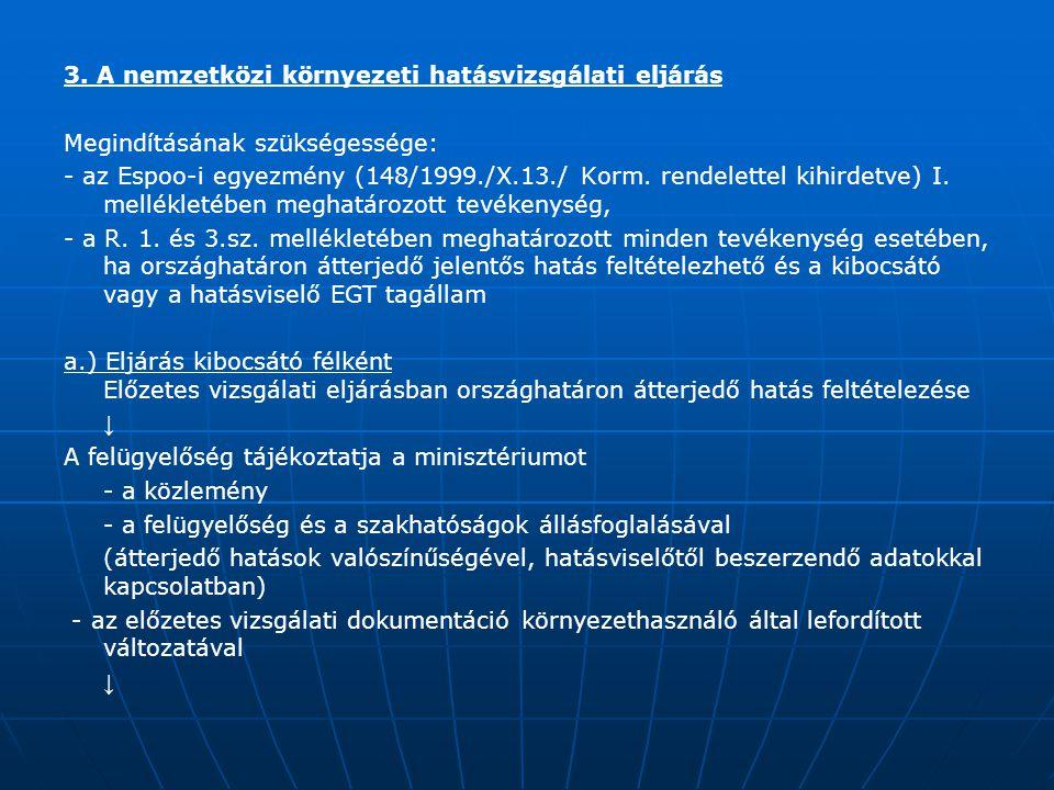 3. A nemzetközi környezeti hatásvizsgálati eljárás