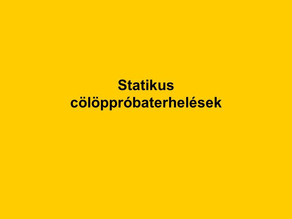 Statikus cölöppróbaterhelések