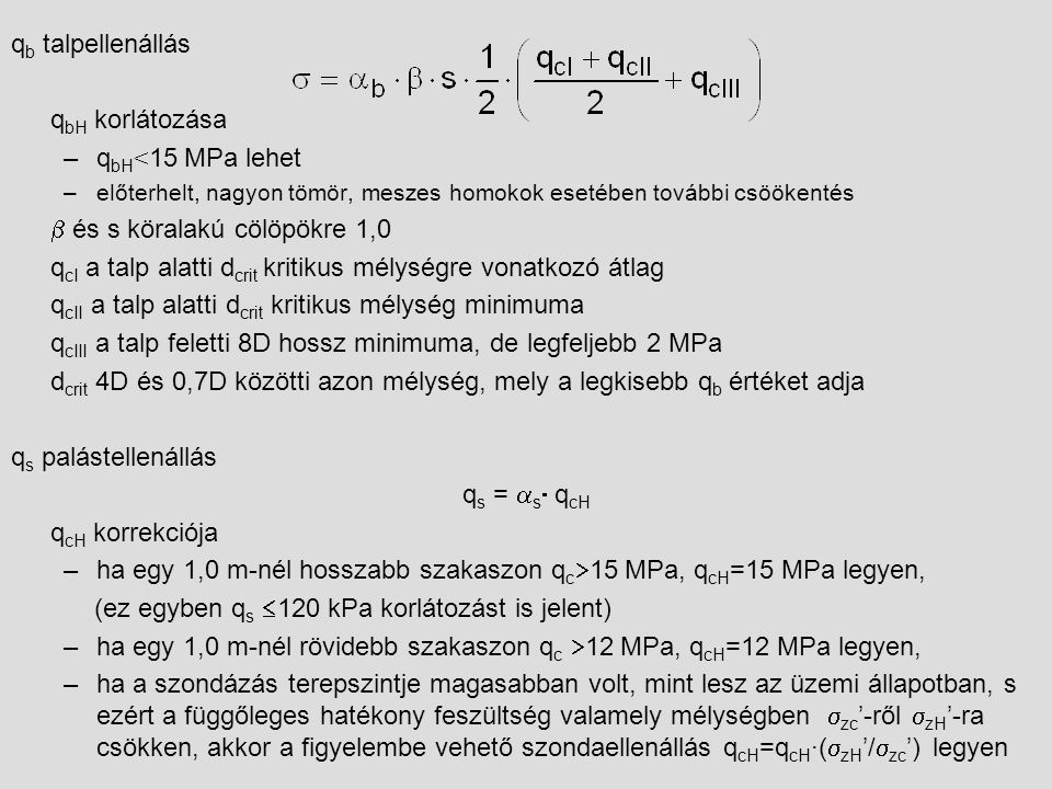 b és s köralakú cölöpökre 1,0