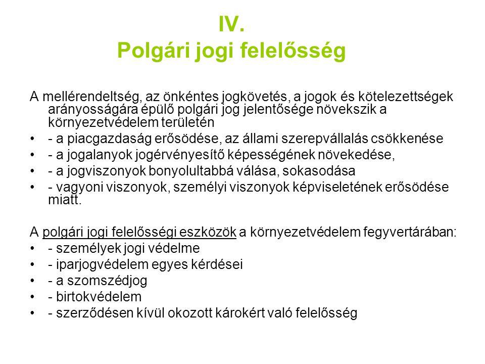 IV. Polgári jogi felelősség