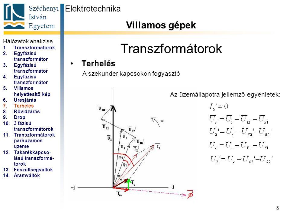 Transzformátorok Villamos gépek Elektrotechnika Terhelés