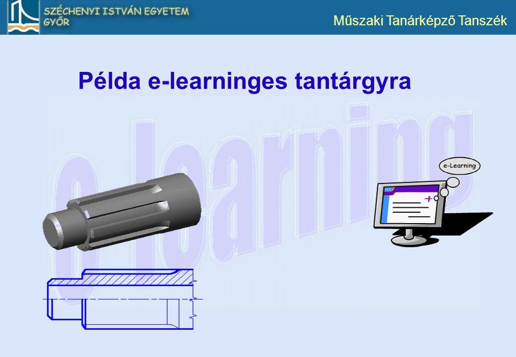 Példa e-learninges tantárgyra