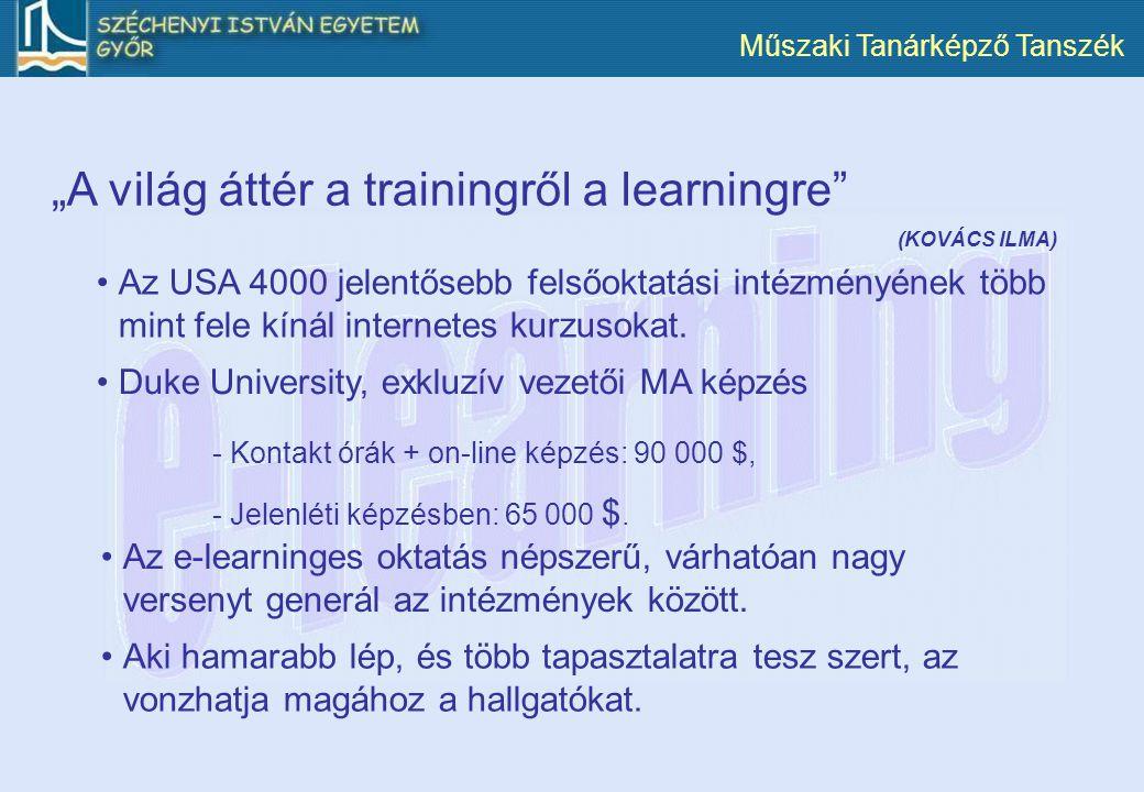 """A világ áttér a trainingről a learningre"