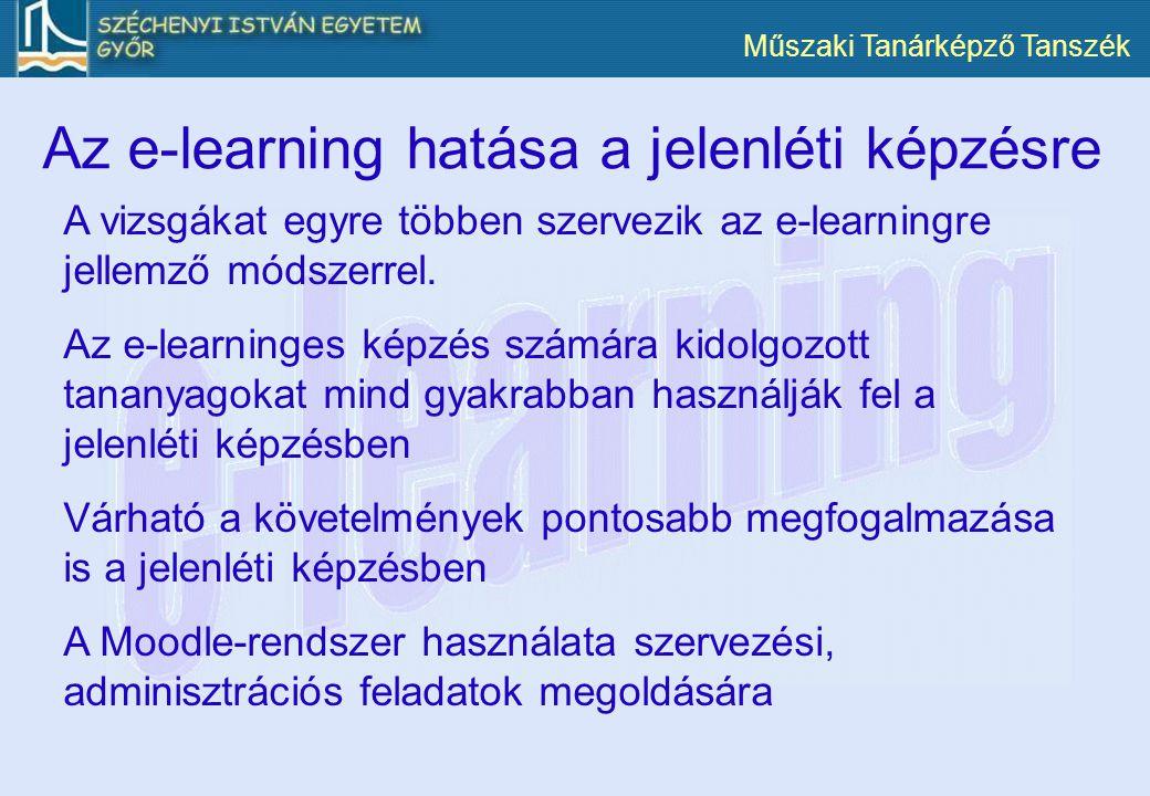 Az e-learning hatása a jelenléti képzésre