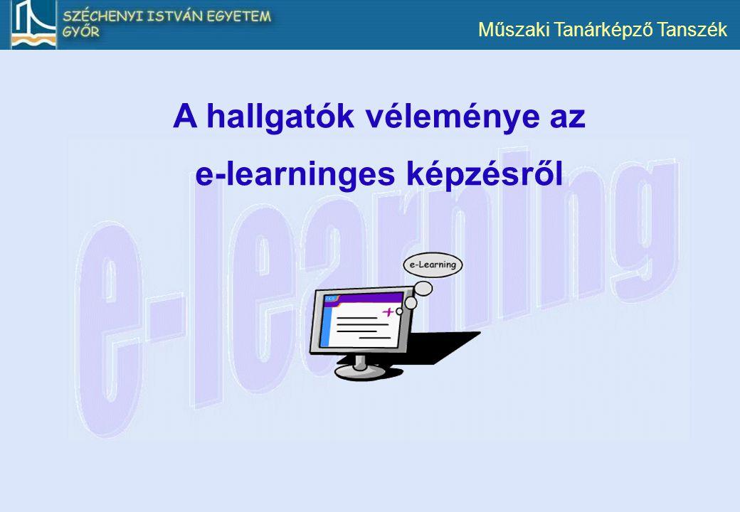 A hallgatók véleménye az e-learninges képzésről