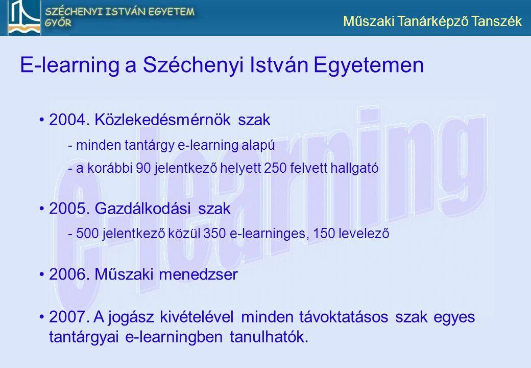 E-learning a Széchenyi István Egyetemen