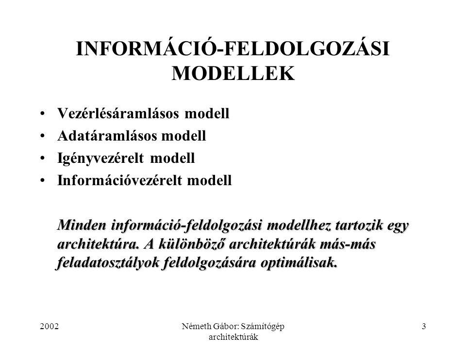 INFORMÁCIÓ-FELDOLGOZÁSI MODELLEK