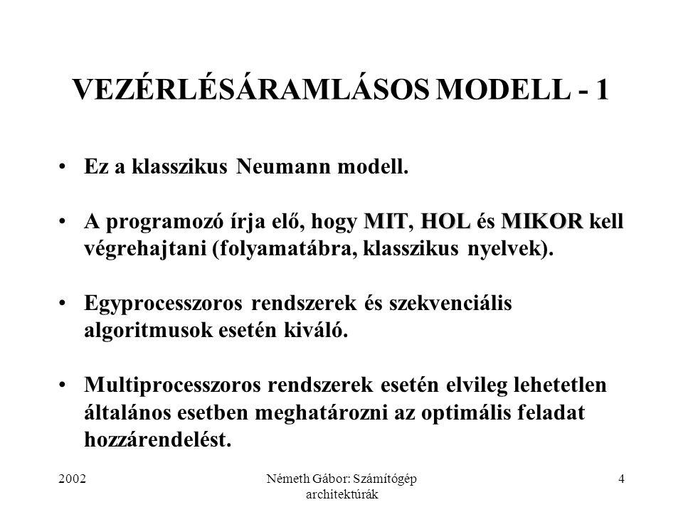 VEZÉRLÉSÁRAMLÁSOS MODELL - 1