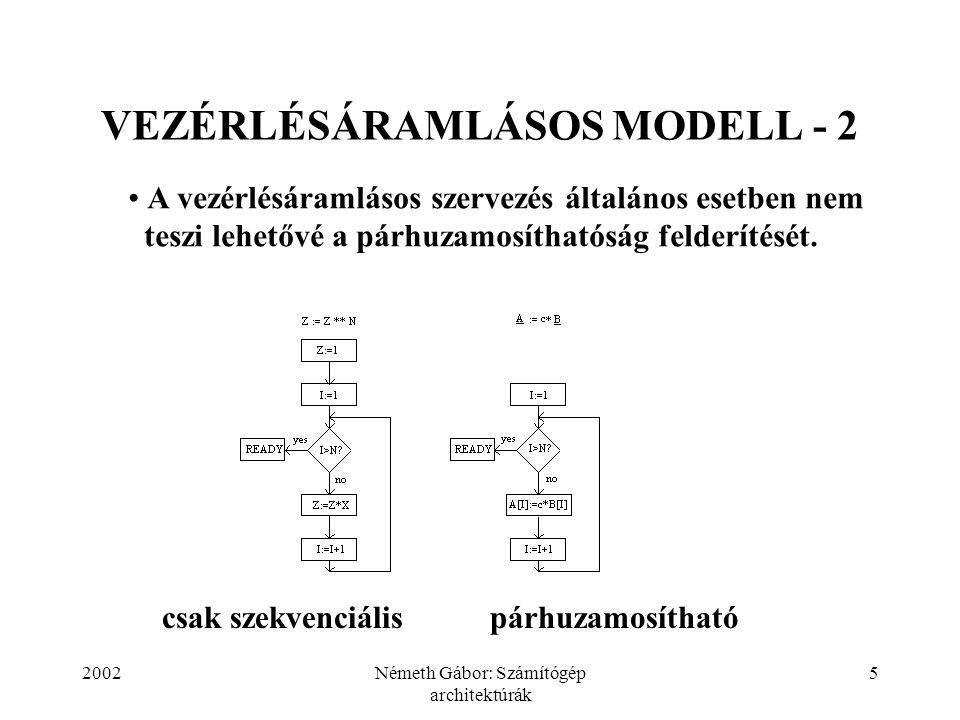 VEZÉRLÉSÁRAMLÁSOS MODELL - 2