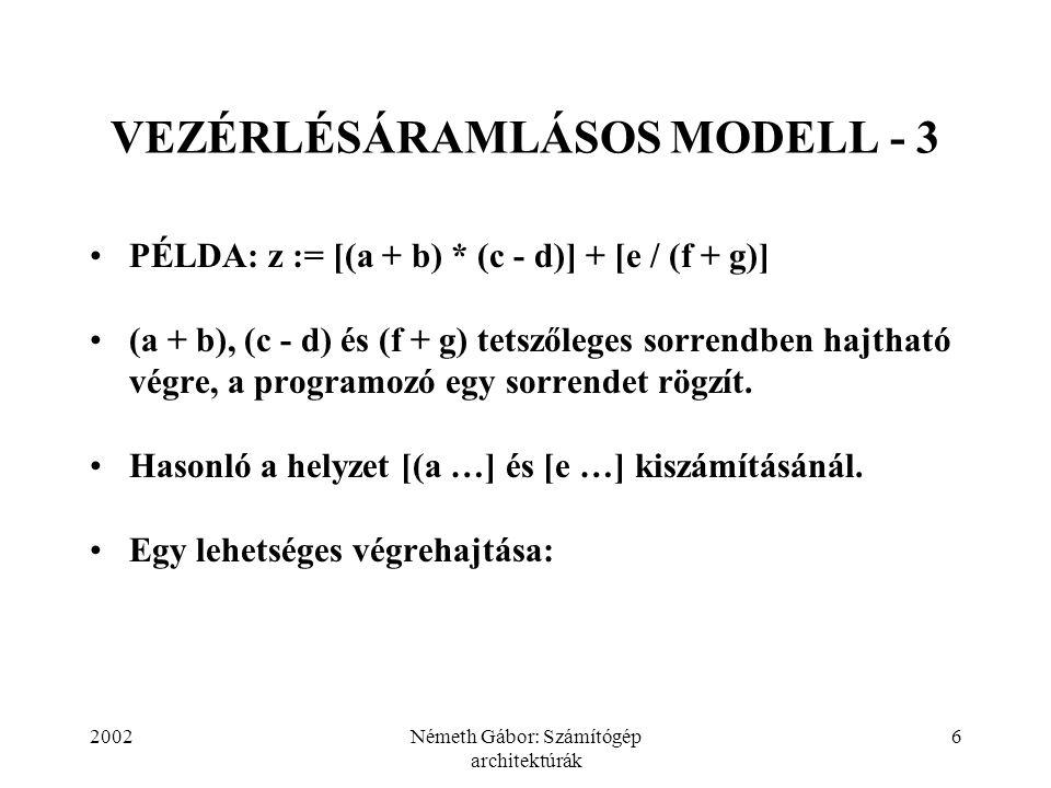 VEZÉRLÉSÁRAMLÁSOS MODELL - 3