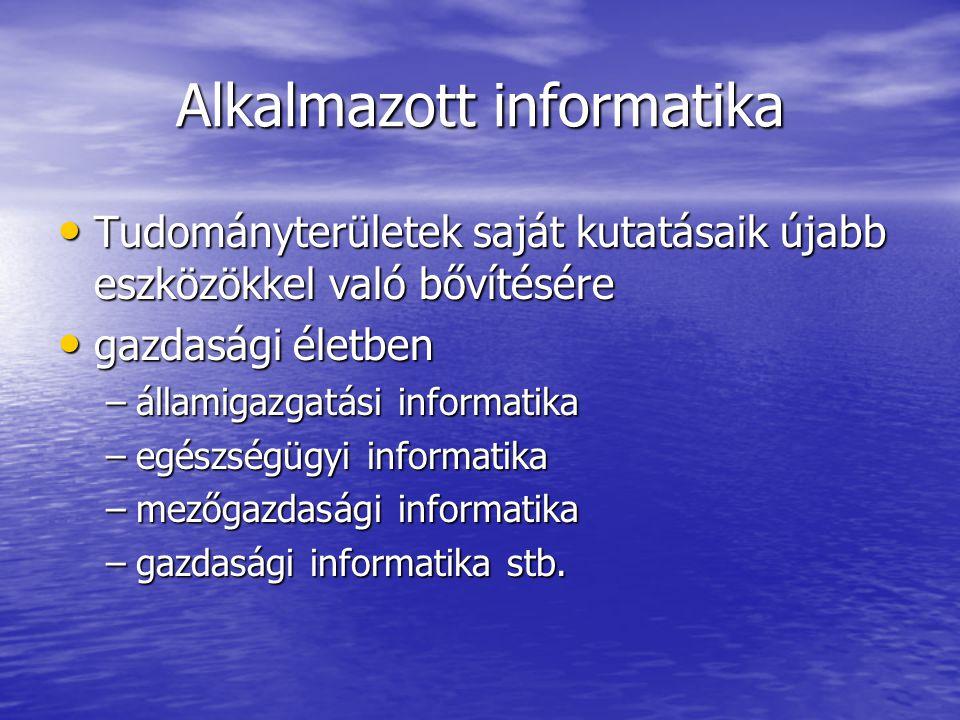 Alkalmazott informatika
