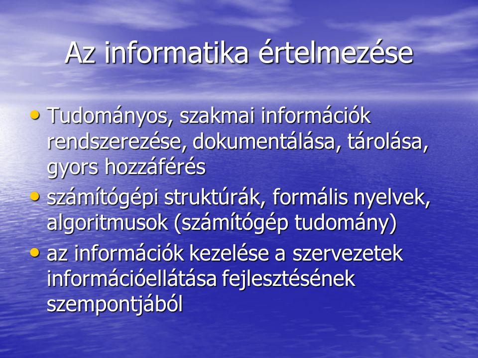 Az informatika értelmezése