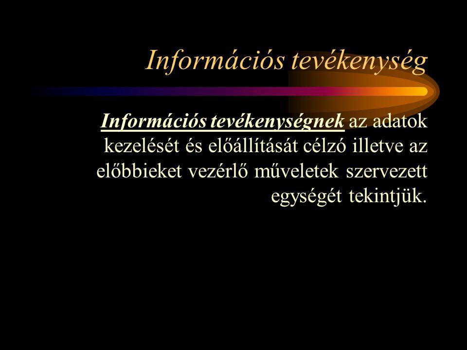 Információs tevékenység